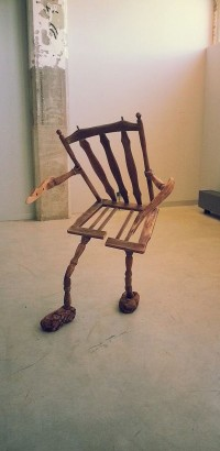 Old Walking Wood Chair
